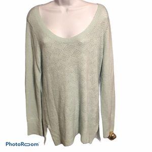 Super soft pale green reitmans sweater